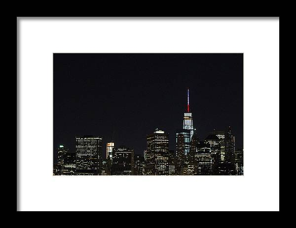 November 2015 Paris Attacks Framed Print featuring the photograph Security Increased In New York City After Attacks In Paris by Daniel Pierce Wright