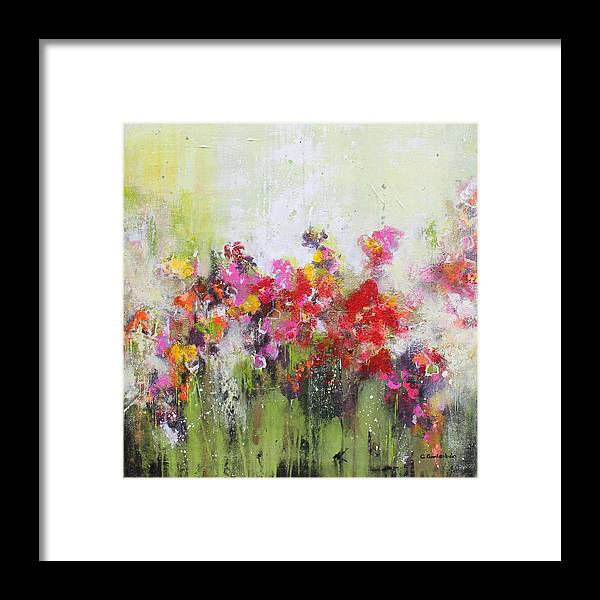 Flowers Framed Print featuring the mixed media Seeds of love by Claudia Gantenbein