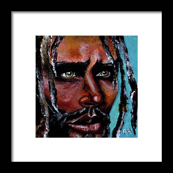 Eyes Framed Print featuring the painting Selfless Life by Artist RiA