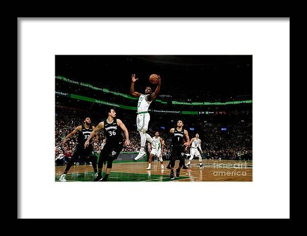 Nba Pro Basketball Framed Print featuring the photograph Semi Ojeleye by Brian Babineau
