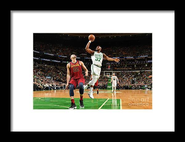 Playoffs Framed Print featuring the photograph Semi Ojeleye by Jesse D. Garrabrant