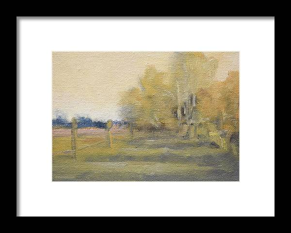 Oil Painting Framed Print featuring the painting Sentiment for Fall by Curtis Green