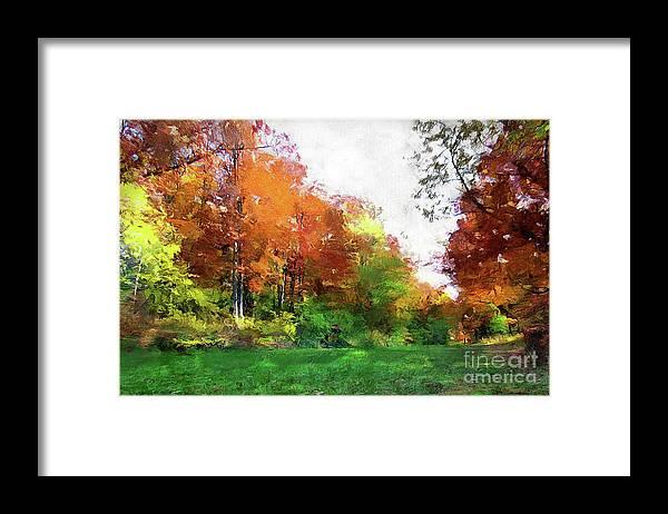 Landscape Framed Print featuring the photograph Sentimental Autumn by Cedric Hampton