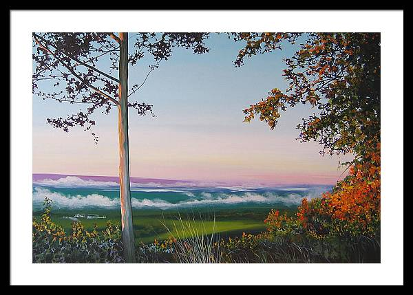 Landscape Framed Print featuring the painting September Sky by Hunter Jay