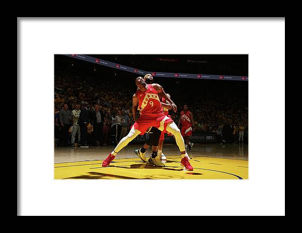 Playoffs Framed Print featuring the photograph Serge Ibaka and Demarcus Cousins by Nathaniel S. Butler