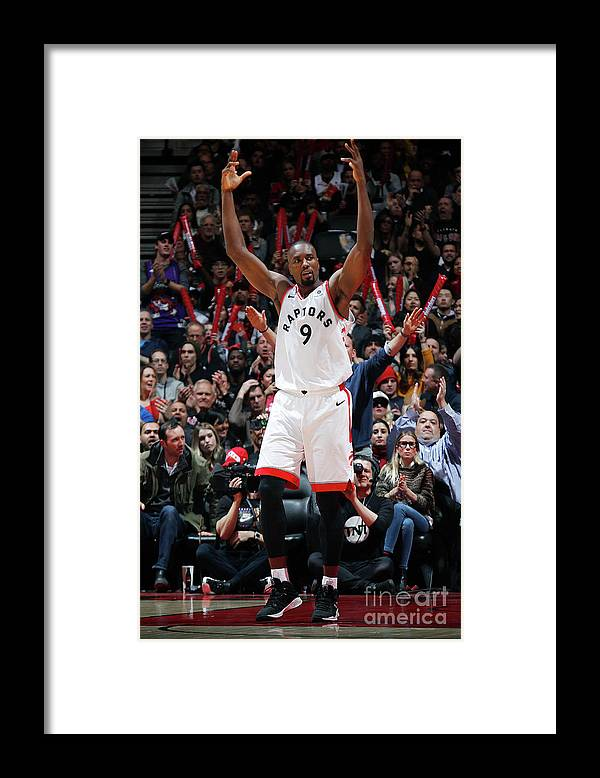 Nba Pro Basketball Framed Print featuring the photograph Serge Ibaka by Mark Blinch