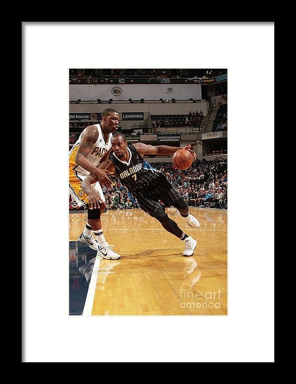 Nba Pro Basketball Framed Print featuring the photograph Serge Ibaka by Ron Hoskins