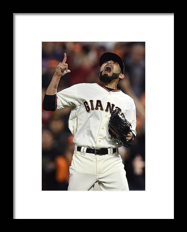 San Francisco Framed Print featuring the photograph Sergio Romo by Thearon W. Henderson