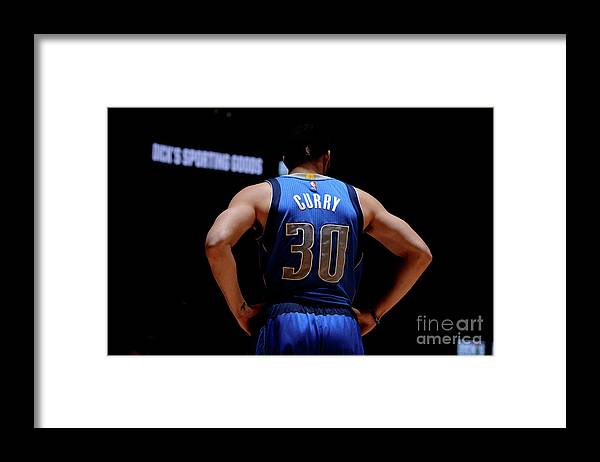 Nba Pro Basketball Framed Print featuring the photograph Seth Curry by Bart Young