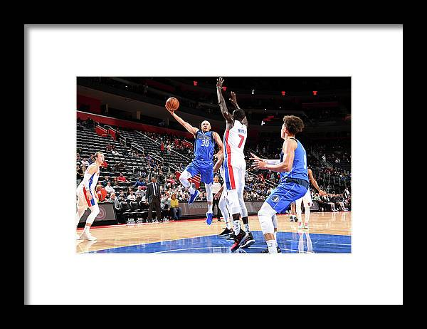 Nba Pro Basketball Framed Print featuring the photograph Seth Curry by Chris Schwegler