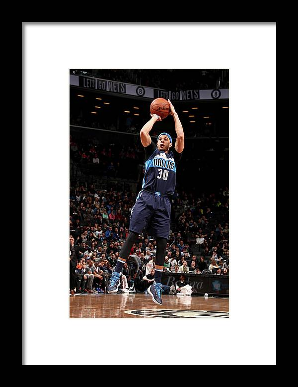 Nba Pro Basketball Framed Print featuring the photograph Seth Curry by Nathaniel S. Butler
