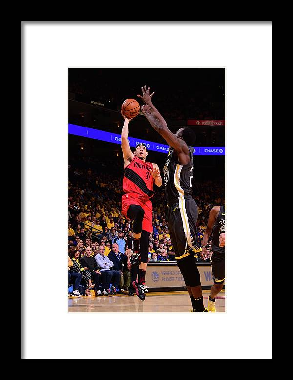 Playoffs Framed Print featuring the photograph Seth Curry by Noah Graham