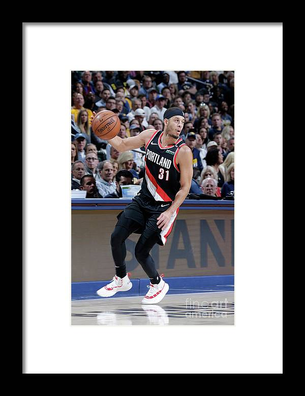 Nba Pro Basketball Framed Print featuring the photograph Seth Curry by Ron Hoskins