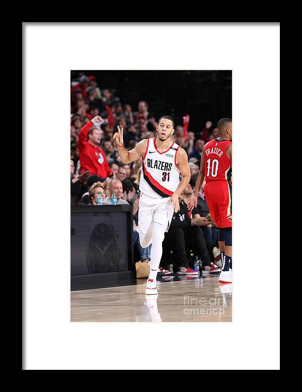 Nba Pro Basketball Framed Print featuring the photograph Seth Curry by Sam Forencich