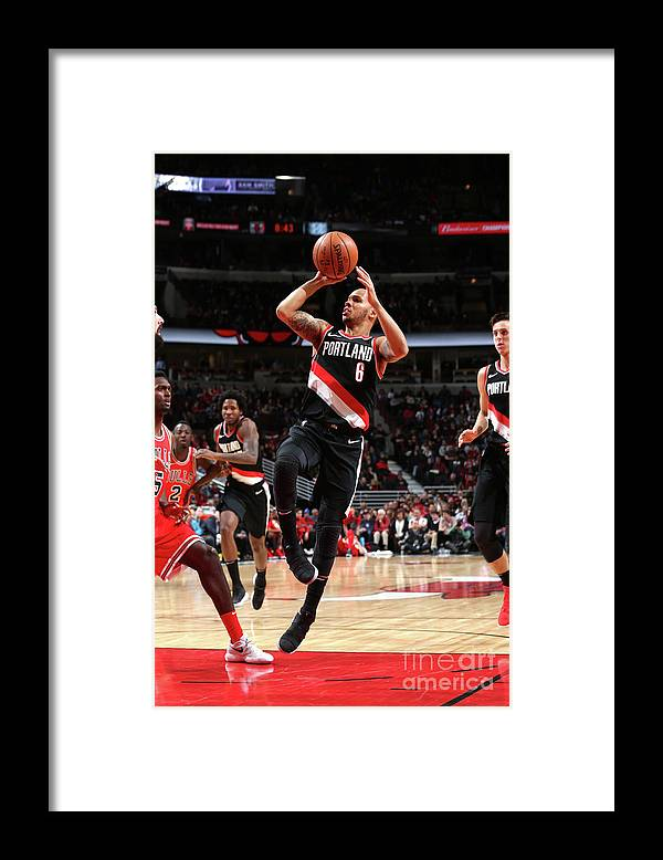 Nba Pro Basketball Framed Print featuring the photograph Shabazz Napier by Gary Dineen