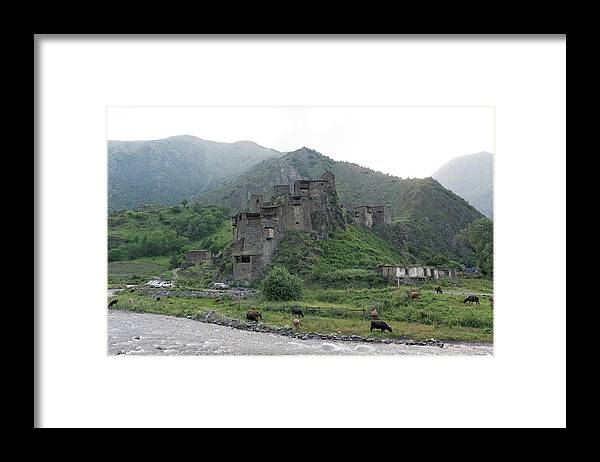 Scenics Framed Print featuring the photograph Shatili fortified stone castle, North Caucasus, Georgia by Vyacheslav Argenberg