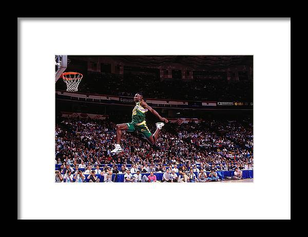 Nba Pro Basketball Framed Print featuring the photograph Shawn Kemp by Nathaniel S. Butler