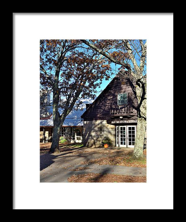 Big Meadows Lodge Framed Print featuring the photograph Shenandoah National Park - Big Meadows Lodge by Brendan Reals