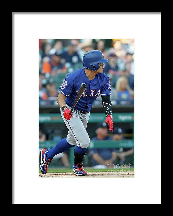 People Framed Print featuring the photograph Shin-soo Choo by Duane Burleson