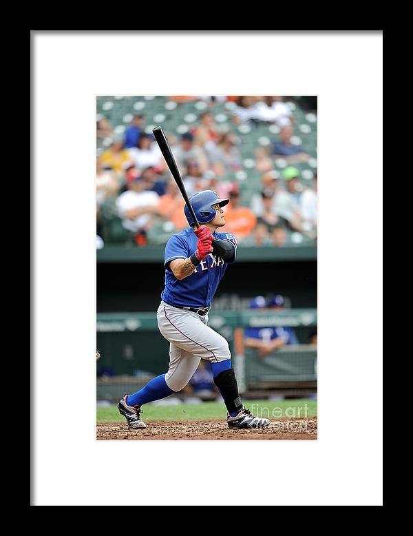 People Framed Print featuring the photograph Shin-soo Choo by Greg Fiume