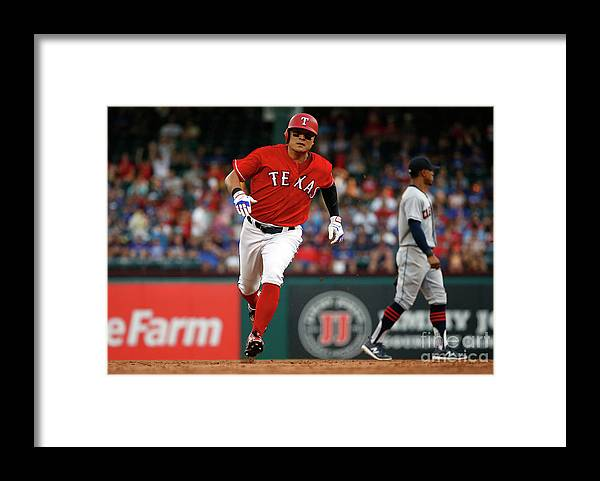Second Inning Framed Print featuring the photograph Shin-soo Choo by Ron Jenkins