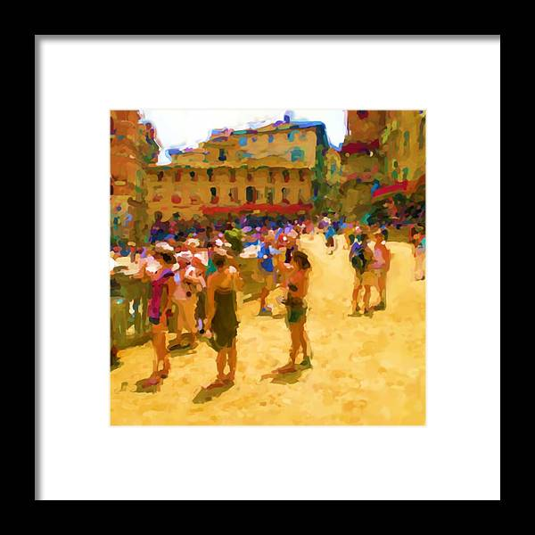 Sienna Framed Print featuring the mixed media Sienna by Asbjorn Lonvig