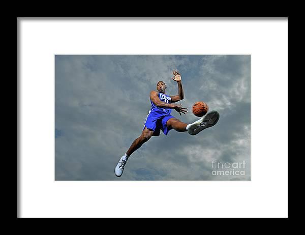 Nba Pro Basketball Framed Print featuring the photograph Sindarius Thornwell by Jesse D. Garrabrant