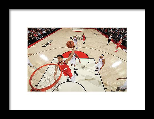 Nba Pro Basketball Framed Print featuring the photograph Skal Labissiere by Cameron Browne