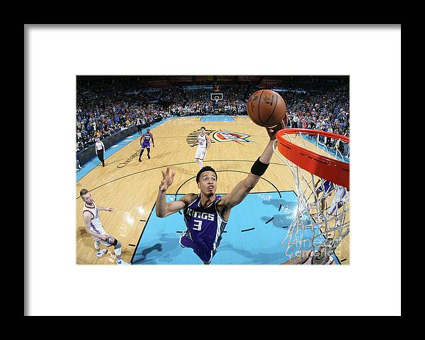 Nba Pro Basketball Framed Print featuring the photograph Skal Labissiere by Layne Murdoch