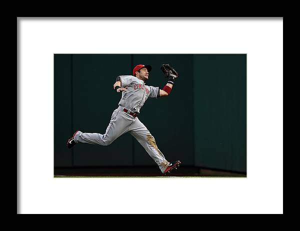 American League Baseball Framed Print featuring the photograph Skip Schumaker and Anthony Rendon by Patrick Smith