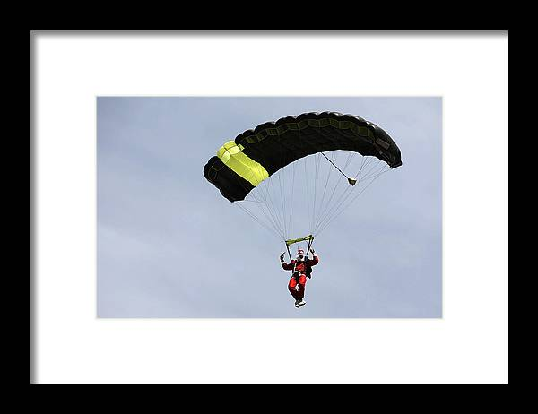 Internet Framed Print featuring the photograph Skydiving Santas Launch New Experiences Website by Brendon Thorne