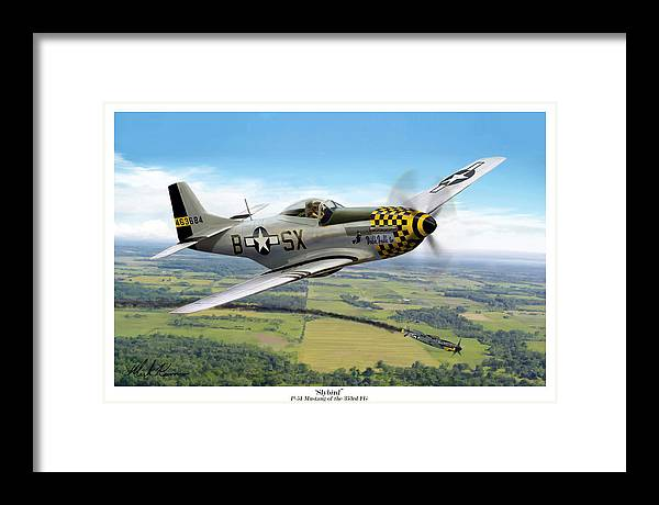 Aviation Framed Print featuring the painting Slybird by Mark Karvon