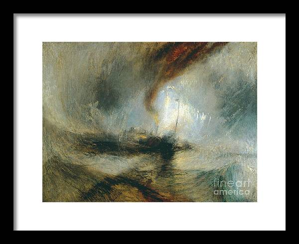 Snow Storm, Steam-Boat off a Harbour's Mouth by William Turner