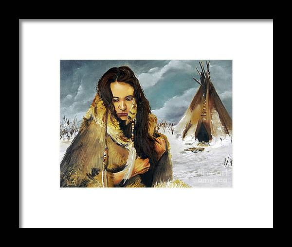 Southwest Art Framed Print featuring the painting Solitude by J W Baker