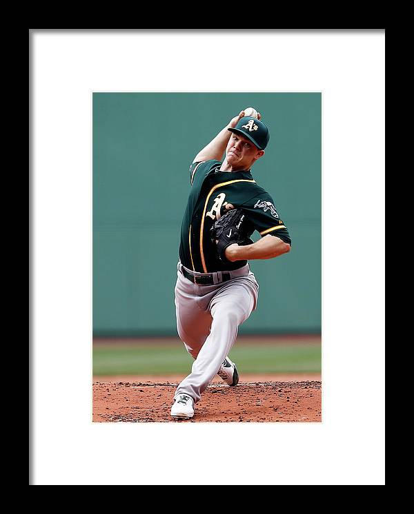 American League Baseball Framed Print featuring the photograph Sonny Gray by Jim Rogash