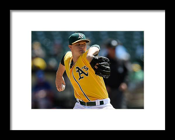 American League Baseball Framed Print featuring the photograph Sonny Gray by Thearon W. Henderson