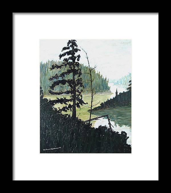 Sudbury Framed Print featuring the painting South of Sudbury by Ian MacDonald