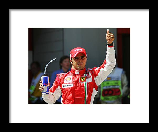 Shell Framed Print featuring the photograph Spanish Formula One Grand Prix: Qualifying by Bryn Lennon