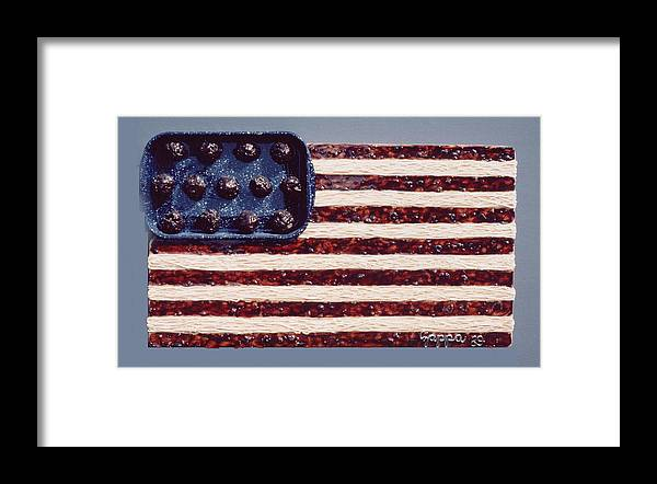 Czappa Framed Print featuring the relief Speggetti Flag by Bill Czappa
