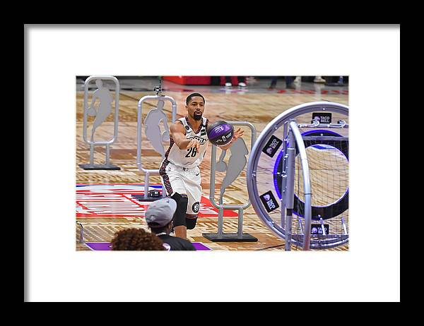 Nba Pro Basketball Framed Print featuring the photograph Spencer Dinwiddie by Bill Baptist