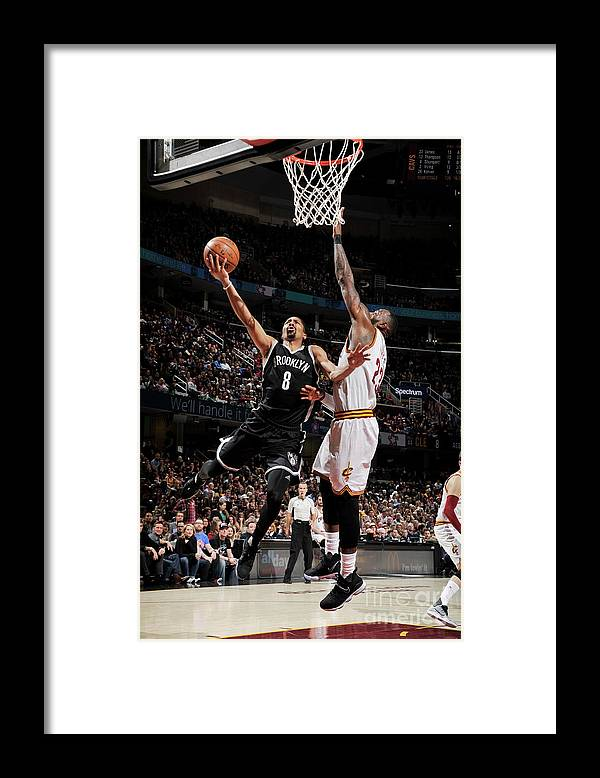 Nba Pro Basketball Framed Print featuring the photograph Spencer Dinwiddie by David Liam Kyle