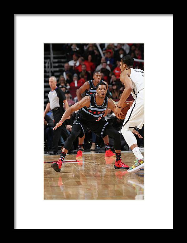 Nba Pro Basketball Framed Print featuring the photograph Spencer Dinwiddie by Gary Dineen