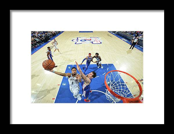 Playoffs Framed Print featuring the photograph Spencer Dinwiddie by Jesse D. Garrabrant