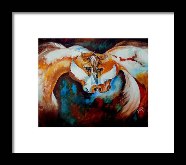 Horse Framed Print featuring the painting Spirit Eagle 2007 by Marcia Baldwin