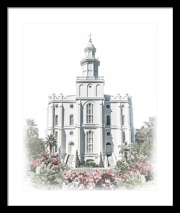 St George Framed Print featuring the digital art St George Temple - Celestial Series by Brent Borup