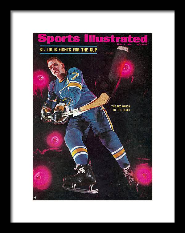 Magazine Cover Framed Print featuring the photograph St Louis Blues Gordon Berenson Sports Illustrated Cover by Sports Illustrated