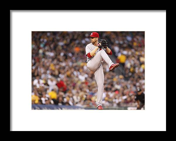 American League Baseball Framed Print featuring the photograph St Louis Cardinals v Pittsburgh Pirates by Justin K. Aller