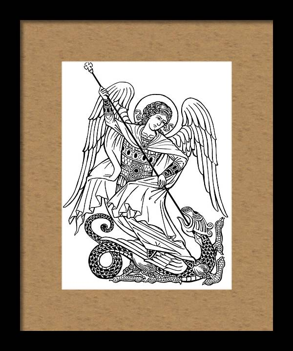 St-Michael Black and White by Jonathan Pageau