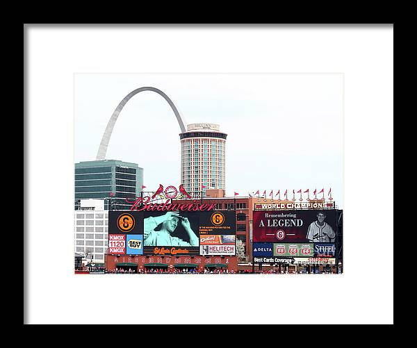 St. Louis Cardinals Framed Print featuring the photograph Stan Musial by Elsa