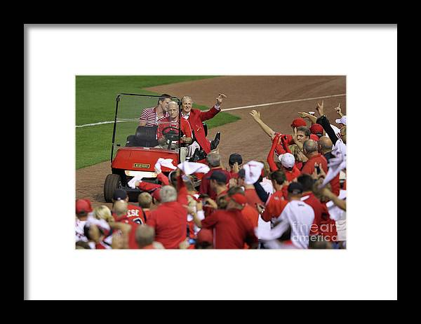 Emergence Framed Print featuring the photograph Stan Musial by Jamie Squire
